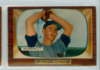 1955 Bowman Baseball 165 Maurice McDermott Washington Senators Very Good to Excellent