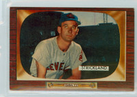 1955 Bowman Baseball 192 George Strickland Cleveland Indians Very Good