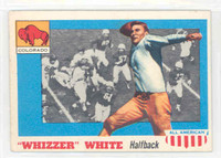 1955 Topps AA Football 21 b Whizzer White ROOKIE Single Print COR BACK   Colorado Excellent
