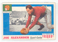 1955 Topps AA Football 41 Joseph Alexander Single Print  Syracuse Excellent