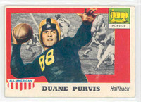 1955 Topps AA Football 51 Duane Purvis Single Print  Purdue Very Good to Excellent