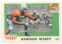 1955 Topps AA Football 77 Bowden Wyatt Single Print Tenn Volunteers Very Good to Excellent