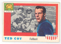 1955 Topps AA Football 83 Ted Coy Yale Bulldogs Very Good to Excellent