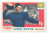 1955 Topps AA Football 86 Albie Booth Single Print Yale Bulldogs Very Good to Excellent