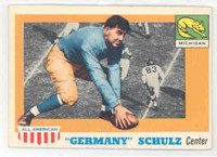 1955 Topps AA Football 87 Adolph Schulz Single Print  Michigan Excellent