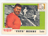 1955 Topps AA Football 100 Fats Henry ROOKIE  Washington / Jefferson Very Good to Excellent