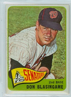 1965 OPC Baseball 21 Don Blasingame Washington Senators Very Good