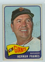 1965 OPC Baseball 32 Herman Franks San Francisco Giants Very Good
