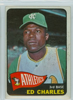 1965 OPC Baseball 35 Ed Charles Kansas City Athletics Very Good