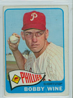 1965 OPC Baseball 36 Bobby Wine Philadelphia Phillies Very Good