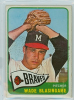 1965 OPC Baseball 44 Wade Blasingame Milwaukee Braves Very Good