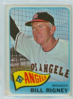 1965 OPC Baseball 66 Bill Rigney California Angels Very Good