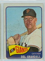 1965 OPC Baseball 68 Del Crandall San Francisco Giants Very Good