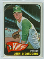 1965 OPC Baseball 71 John O Donoghue Kansas City Athletics Good to Very Good