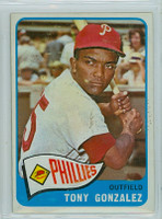 1965 OPC Baseball 72 Tony Gonzalez Philadelphia Phillies Very Good