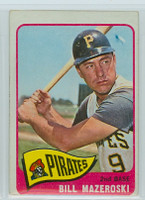 1965 OPC Baseball 95 Bill Mazeroski Pittsburgh Pirates Very Good