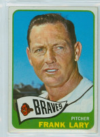 1965 OPC Baseball 127 Frank Lary Milwaukee Braves Very Good