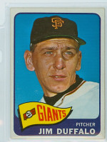 1965 OPC Baseball 159 Jim Duffalo San Francisco Giants Very Good to Excellent