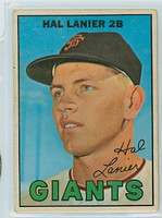 1967 OPC Baseball 4 Hal Lanier San Francisco Giants Very Good to Excellent