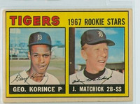 1967 OPC Baseball 72 Tigers Rookies Very Good to Excellent
