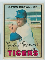 1967 OPC Baseball 134 Gates Brown Detroit Tigers Very Good to Excellent
