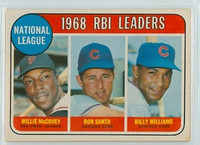 1969 OPC Baseball 4 NL RBI Leaders Excellent