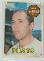 1969 OPC Baseball 17 Mike Marshall Seattle Pilots Excellent