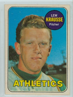 1969 OPC Baseball 23 Lew Krausse Oakland Athletics Excellent
