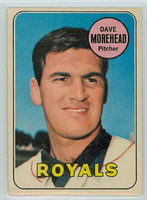 1969 OPC Baseball 29 Dave Morehead Kansas City Royals Very Good to Excellent