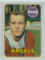 1969 OPC Baseball 32 Sammy Ellis California Angels Very Good to Excellent