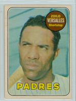 1969 OPC Baseball 38 Zoilo Versalles San Diego Padres Very Good to Excellent