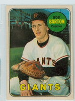 1969 OPC Baseball 41 Bob Barton San Francisco Giants Excellent