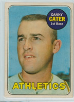 1969 OPC Baseball 44 Danny Cater Oakland Athletics Very Good to Excellent