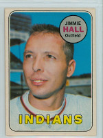 1969 OPC Baseball 61 Jimmie Hall Cleveland Indians Excellent to Excellent Plus