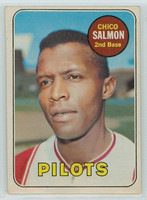 1969 OPC Baseball 62 Chico Salmon Seattle Pilots Excellent
