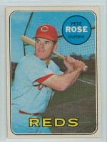 1969 OPC Baseball 120 Pete Rose Cincinnati Reds Excellent