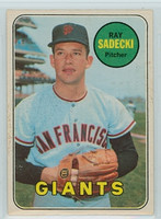 1969 OPC Baseball 125 Ray Sadecki San Francisco Giants Excellent to Mint