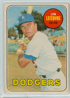 1969 OPC Baseball 140 Jim Lefebvre Los Angeles Dodgers Excellent