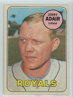 1969 OPC Baseball 159 Jerry Adair Kansas City Royals Excellent