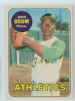 1969 OPC Baseball 195 John Odom Oakland Athletics Excellent to Excellent Plus