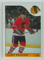1985-86 Topps Hockey Curt Fraser Chicago Black Hawks Near-Mint