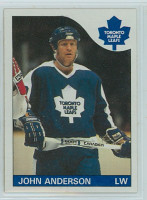 1985-86 Topps Hockey John Anderson Toronto Maple Leafs Near-Mint to Mint