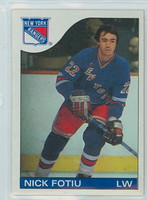 1985-86 Topps Hockey Nick Fotiu New York Rangers Near-Mint to Mint