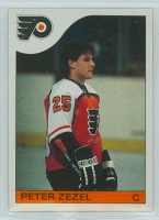 1985-86 Topps Hockey Peter Zezel Philadelphia Flyers Near-Mint to Mint