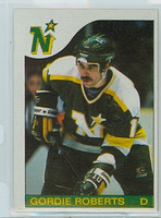 1985-86 Topps Hockey Gordie Roberts Minnesota North Stars Near-Mint