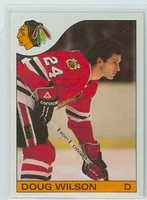 1985-86 Topps Hockey Doug Wilson Chicago Black Hawks Near-Mint to Mint