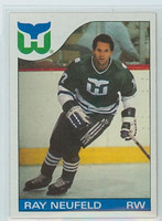 1985-86 Topps Hockey Ray Neufeld Hartford Whalers Near-Mint to Mint