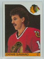 1985-86 Topps Hockey Denis Savard Chicago Black Hawks Near-Mint to Mint