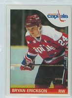1985-86 Topps Hockey Bryan Erickson Washington Capitals Near-Mint to Mint