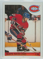1985-86 Topps Hockey Mats Naslund Montreal Canadiens Near-Mint to Mint